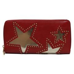 Dámská velká peněženka na zip červená Cavaldi YYXB-05