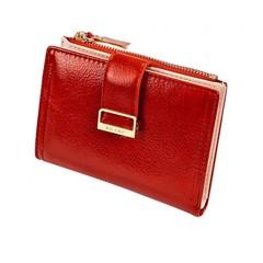 Dámská Kožená Malá Peněženka Červená MILANO DESIGN K1210