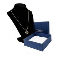 Zlatý náhrdelník s přívěskem květiny Lorenti 22