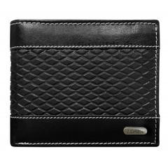 Pánská černá kožená peněženka LOREN RFID N992-DDG