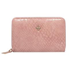 Dámská Kožená Peněženka Růžová MILANO DESIGN S1207