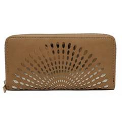 Dámská velká peněženka na zip hnědá Cavaldi YYXB-04