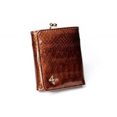 Dámská Kožená Malá Peněženka Hnědá MILANO DESIGN SF-1807