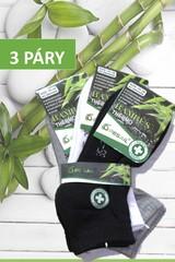 Pesail dámské bambusové termo ponožky kotníkové černé,šedé, bílé 3 páry