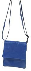 Vera pelle kožená kabelka crossbody modrá