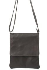 Vera pelle taška přes rameno hnědá kožená tmavá