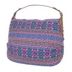 Galanto látková dámská kabelka s geometrickým vzorem TA-18224-purplestripes