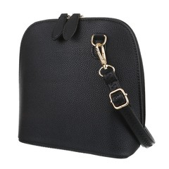 Galanto černá malá dámská kabelka přes rameno se zlatými detaily