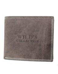 WILD'S COLLECTION pánská kožená peněženka hnědá 5700