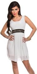 Letní společenské šaty bílé