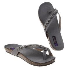 Dámská letní obuv žabky šedé Jumelles