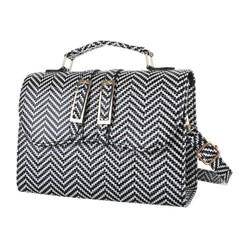 Módní elegantní malá kabelka černá, bílá