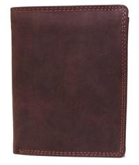 Galanto pánská kožená peněženka tmavě hnědá 306