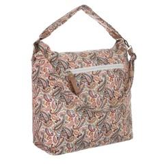 Jerry dámská textilní taška se zipem a potiskem TA-18220-cashew