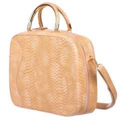 Galanto dámská béžová kabelka do ruky s hadím vzorem