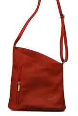 Červená kabelka kožená Chelsea K025