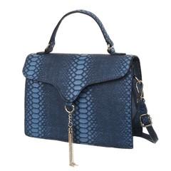 Baolin malá elegantní kabelka přes rameno i do ruky modrá