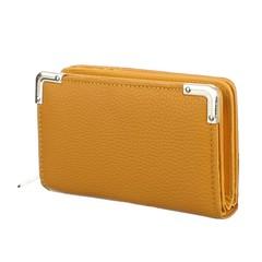 Galanto peněženka žlutá oranž s ozdobnými kovovými rohy vpředu