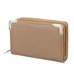 Galanto dámská peněženka hnědá khaki s ozdobnými rohy