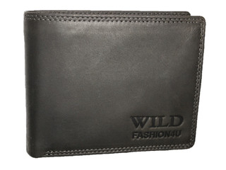 WILD FASHION4U pánská kožená peněženka černá WF5601-BL