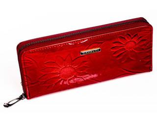 Dámská Velká Červená Peněženka na zip Cavaldi PN25-SFS