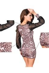Dámské šaty s leopardím potiskem