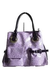 Marc Chantal dámská kabelka fialová s pštrosím motivem