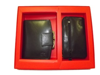 Marc Chantal dámská peněženka a klíčenka černá kožená