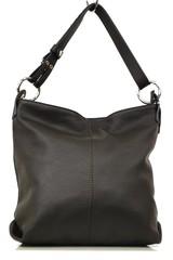 Dámská kabelka kožená tmavě hnědá crossbody Made in Italy
