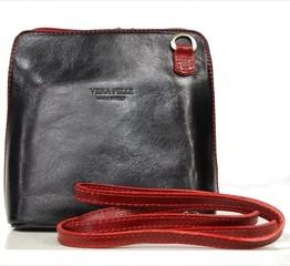 Dámská kožená kabelka černá malá Vera Pelle crossbody