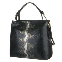 Jerry Firenze luxusní černá kabelka s hadím vzorem