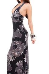 Dámské, stylové, dlouhé, černé šaty