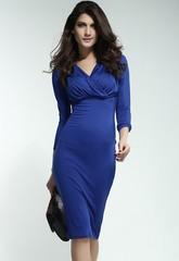 Letní dámské šaty dlouhé modré