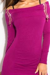 Koucla dámské šaty k legínám či svetr fialový