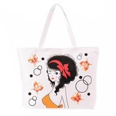Dámská nákupní bílá taška