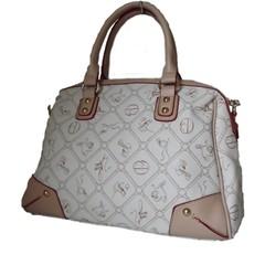 Dámská luxusní italská kabelka Giulia Pieralli béžová-bílá