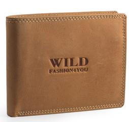 WILD FASHION4U pánská kožená peněženka přírodní