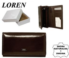 Loren Dámská kožená peněženka hnědá N22-P PC BROWN