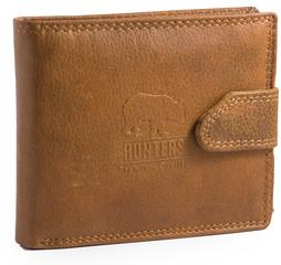 Pánská peněženka kožená Hunters Premium hladká přírodní HUN307