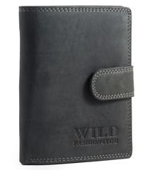 WILD FASHION4U pánská kožená peněženka WF306L-BL