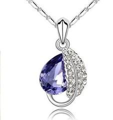 Přívěsek a řetízek s krystaly SWAROVSKI ELEMENTS fialový