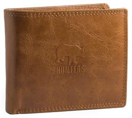 Peněženka pánská kožená Hunters Premium hladká přorodní HUN303