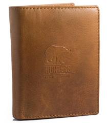 Pánská peněženka kožená Hunters Premium hladká přírodní HUN308