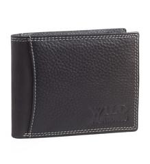 Wild Fashion4u pánská kožená peněženka černá hladká 305