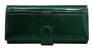 Loren Dámská velká kožená peněženka zelená JP-515-RS GREEN