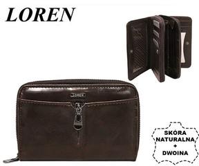 Loren Dámská kožená peněženka stylová hnědá WP01 BROWN FK