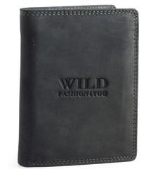 WILD FASHION4U pánská kožená peněženka WF306-BL