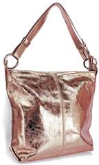 Made in Italy kožená kabelka přes rameno crossbody zlatá