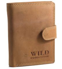 WILD FASHION4U pánská kožená peněženka WF306L-NAT