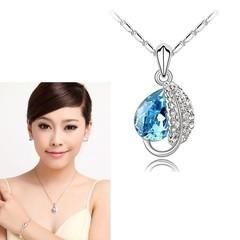 Přívěsek a řetízek s krystaly SWAROVSKI ELEMENTS modrý
